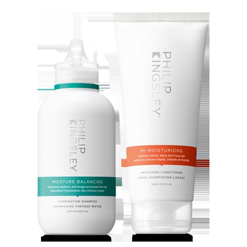 Moisture Balancing Combination Shampoo & Re-Moisturizing Smoothing Conditioner Duo