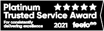Platinum Trusted Service Award - 2021 feefo
